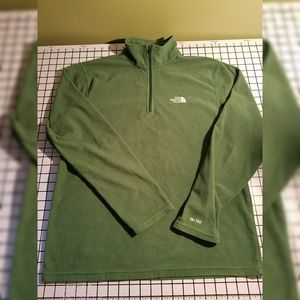 Men's The North Face pullover with zip green TKA